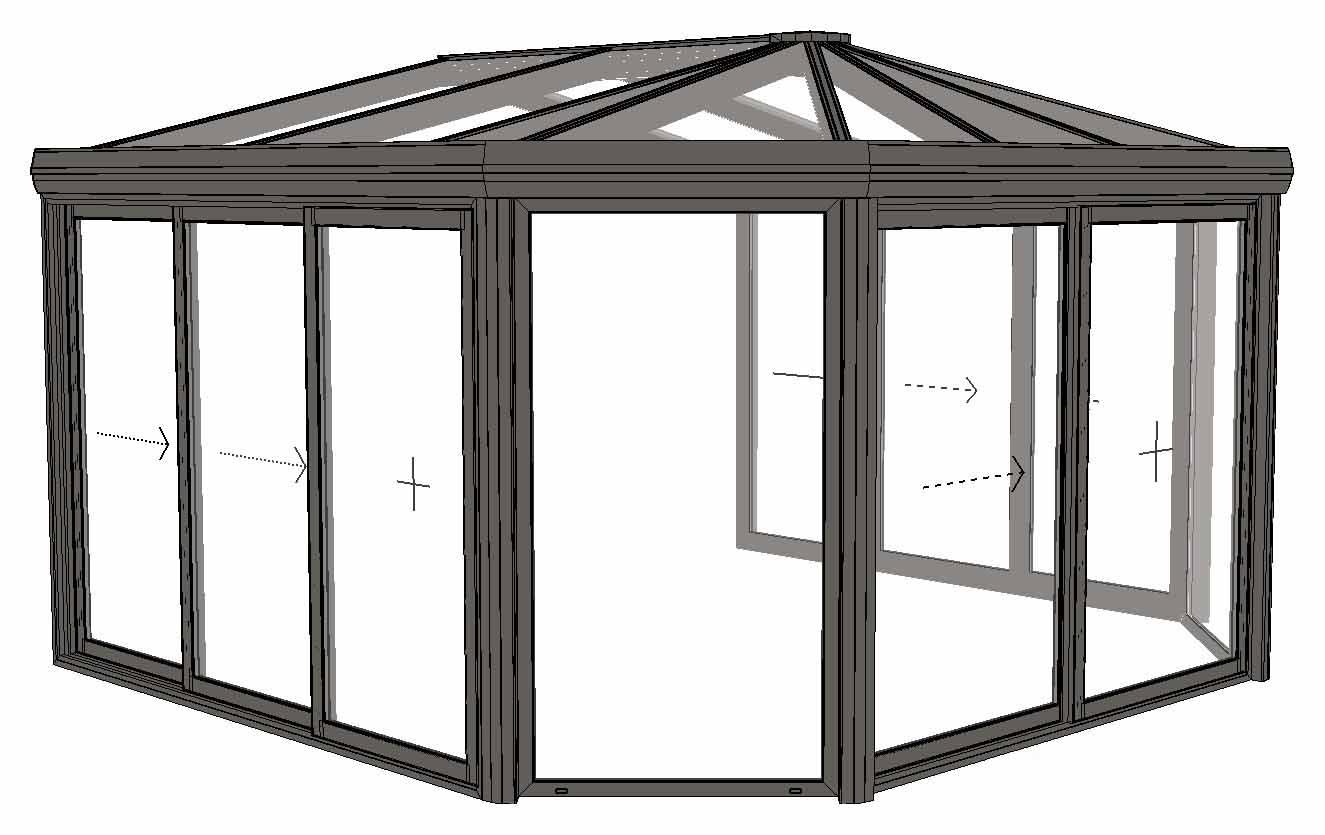 V randa rubis compos e d 39 une toiture double pente et for Pente d une toiture