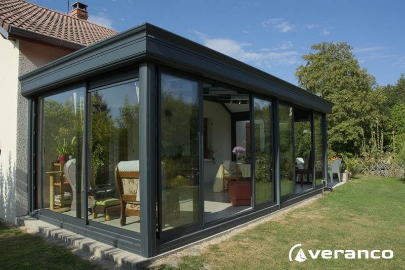 veranda topaze toiture rectangulaire avec une toiture. Black Bedroom Furniture Sets. Home Design Ideas